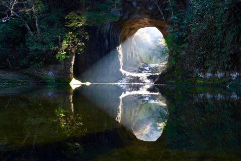 濃溝の滝 ハート
