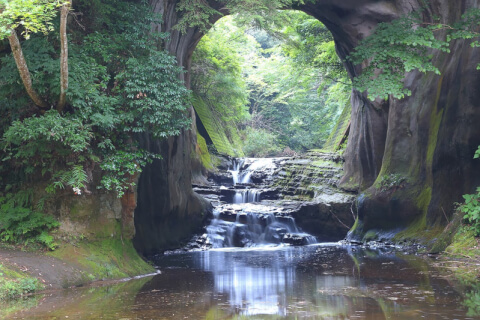 日本 絶景 千葉 濃溝の滝