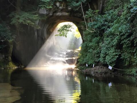日本 絶景 千葉 濃溝の滝 ハート