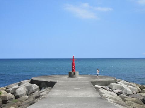 御幸の浜 防波堤