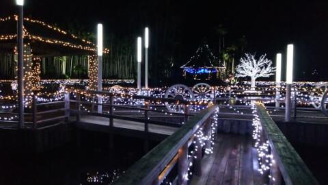 東南植物楽園・ひかりの散歩道 沖縄県 おすすめ イルミネーション
