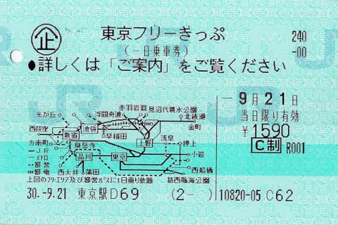 東京フリー切符
