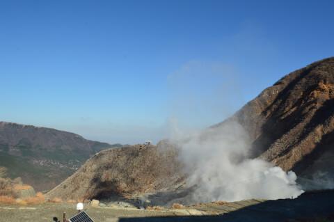 大涌谷山上からの絶景