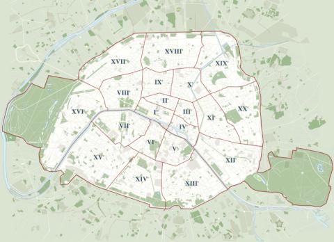 パリ 行政区