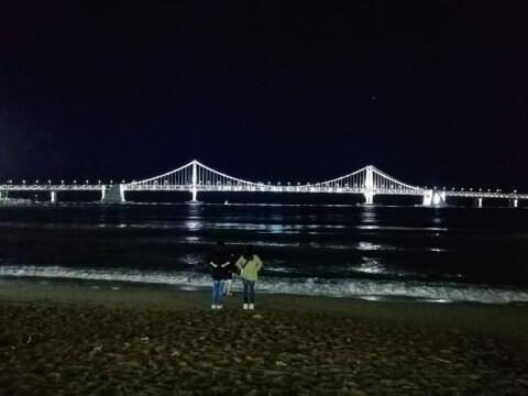 釜山 観光 広安里 ダイヤモンドブリッジ