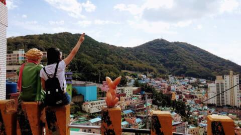 釜山観光 星の王子様 甘川文化村