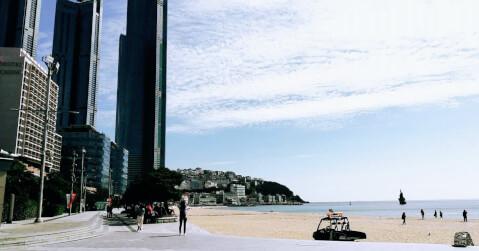 釜山 海雲台ビーチ 観光