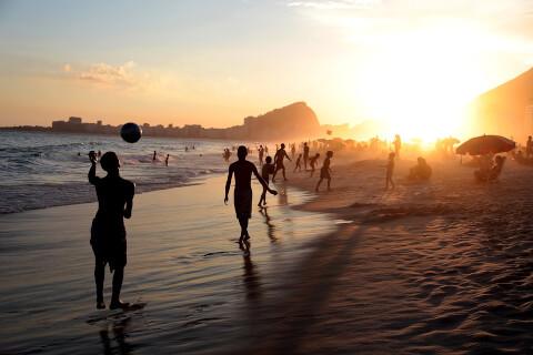 リオデジャネイロ 夕焼け ビーチ