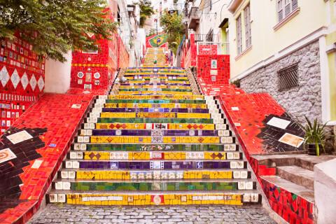 ブラジル、リオデジャネイロのおすすめ観光スポット、エスカダリアセラロン