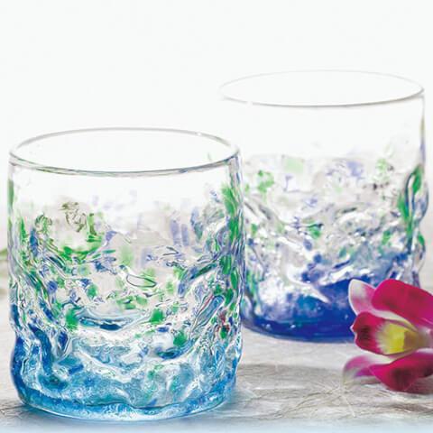 沖縄 お土産 琉球ガラス pairglass ペアグラス