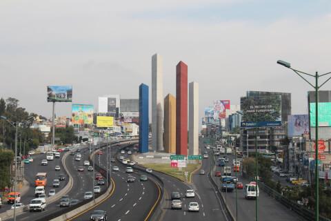 メキシコ メキシコシティ 郊外 道路