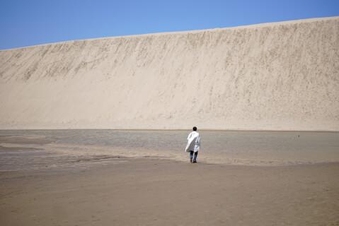 日本 絶景 鳥取 鳥取砂丘 砂簾