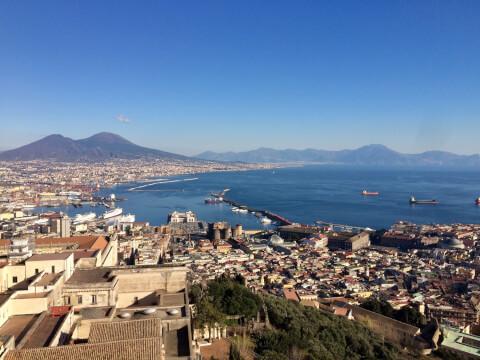 サンテルモ城からの眺め
