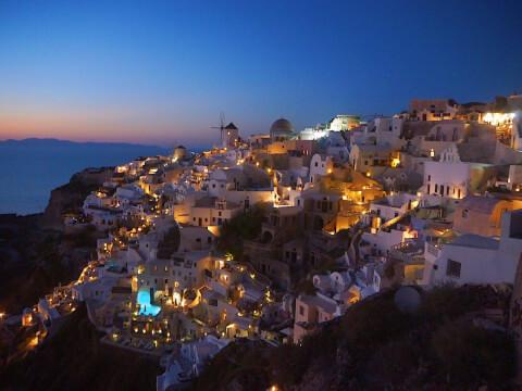 サントリーニ島 ギリシャ 絶景 夕暮れ