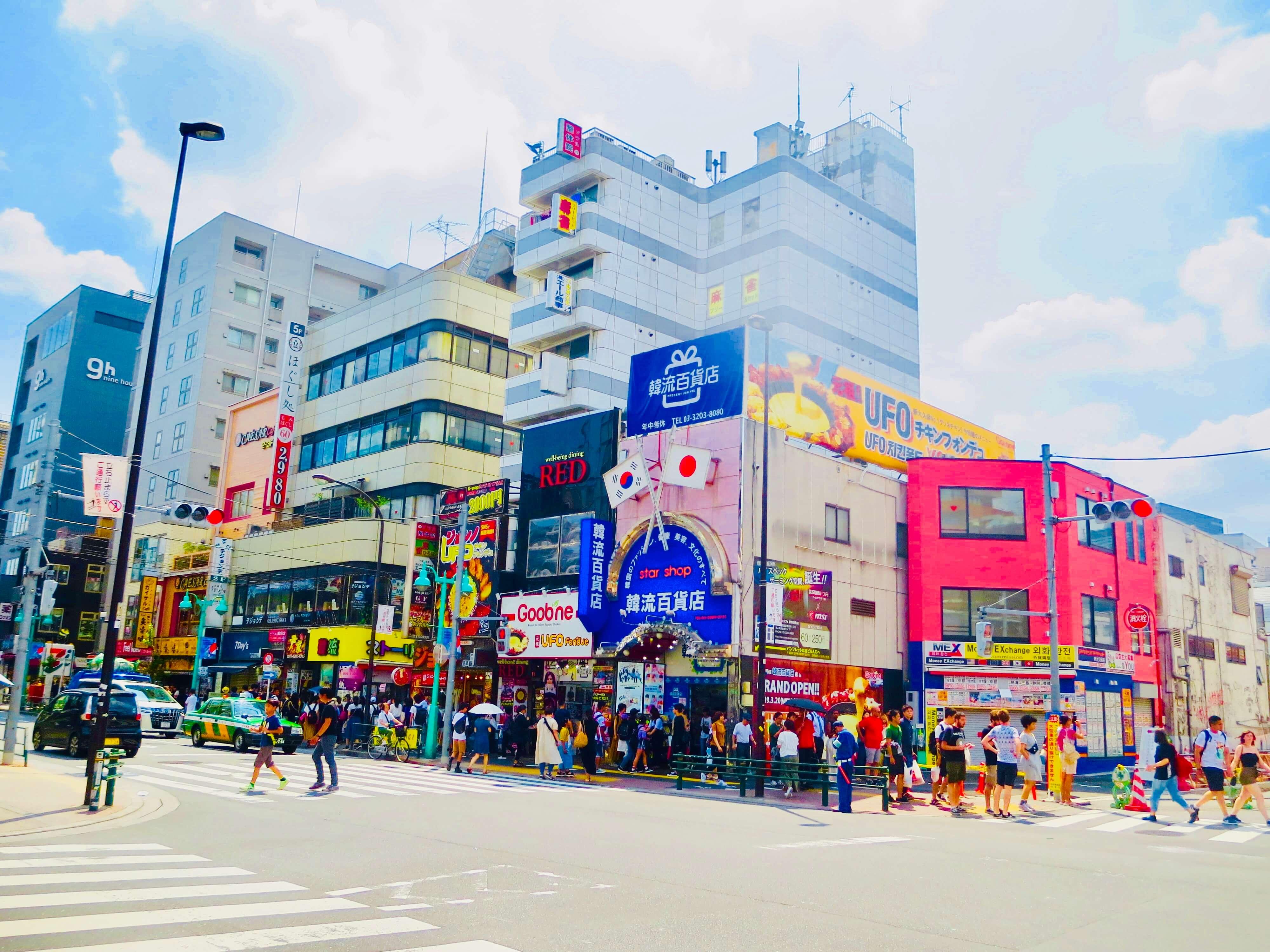 韓国コスメショップ 新大久保駅