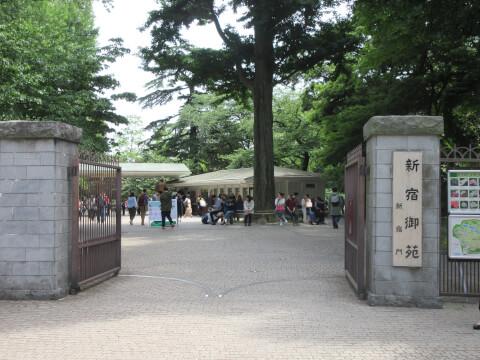 千駄ヶ谷駅周辺のスポット「新宿御苑」