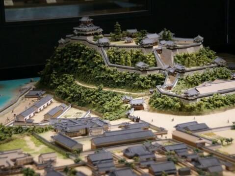 犬山城下町のジオラマ