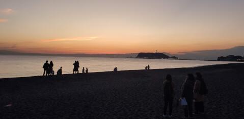夕日 七里ヶ浜海岸
