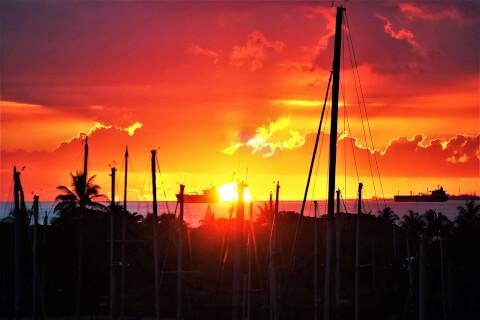 sunset ホノルル サンセットクルーズ
