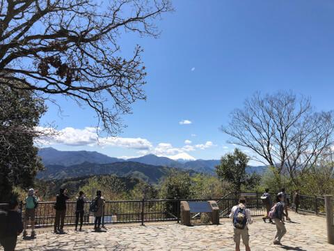 高尾山_山頂_富士山