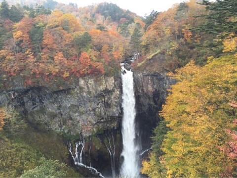 滝華厳滝紅葉