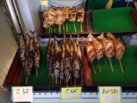 寺泊魚の市場通り2