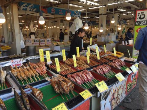 寺泊の魚市場
