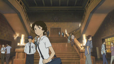時かけ:東京国立博物館の入口(アニメ)