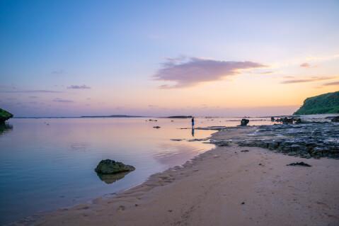 星砂の浜の朝