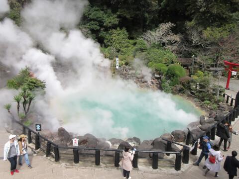 日本 絶景 大分 別府 地獄巡り 海地獄