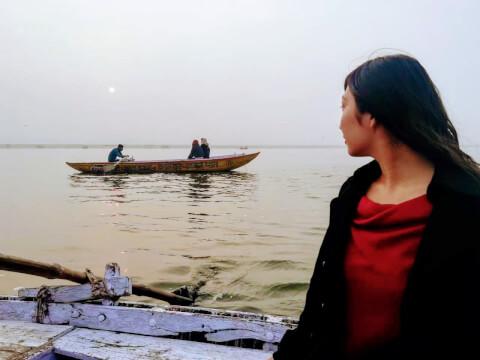 ガンガー ボートトリップ インド バラナシ