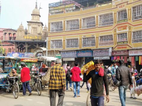 ガンガー バラナシ インド 旧市街