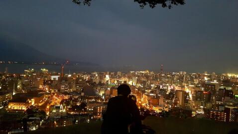 城山からの夜景