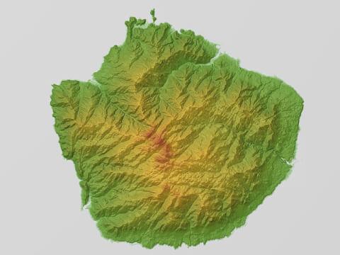屋久島 地形図