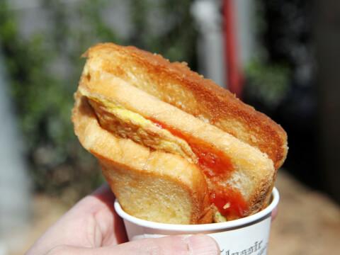 トースト ホットサンド 朝食の定番