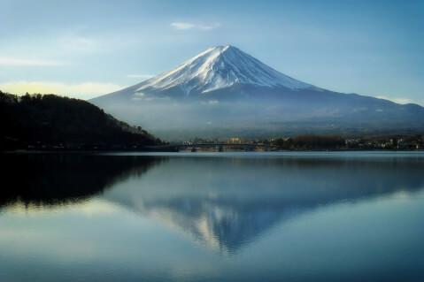 日本 絶景  富士山 逆さ富士