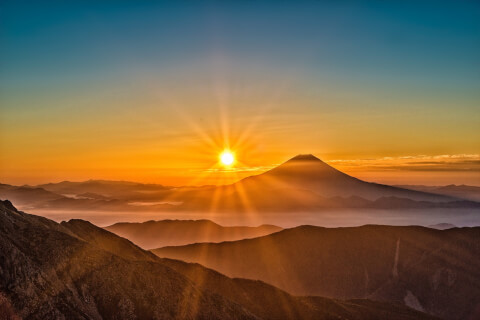 日本 絶景  山梨 富士山