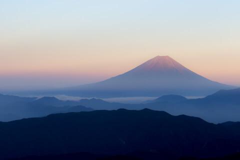 日本 絶景  富士山 赤富士