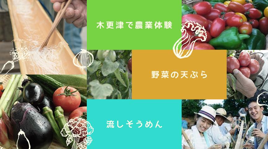 【木更津で流しそうめん】野菜収穫&採れたて野菜の天ぷらも!