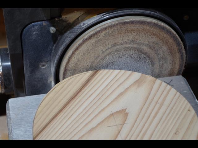 【鍋敷き】サンダーで整える