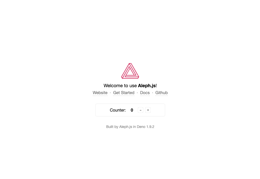 Welcome to use Aleph.js!