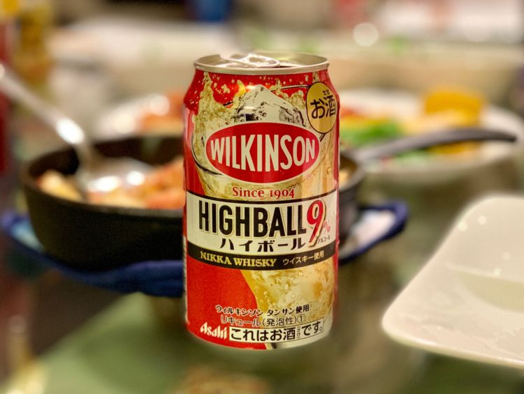 コンビニで、ウイスキーの缶ハイボール新商品を買ってみました。