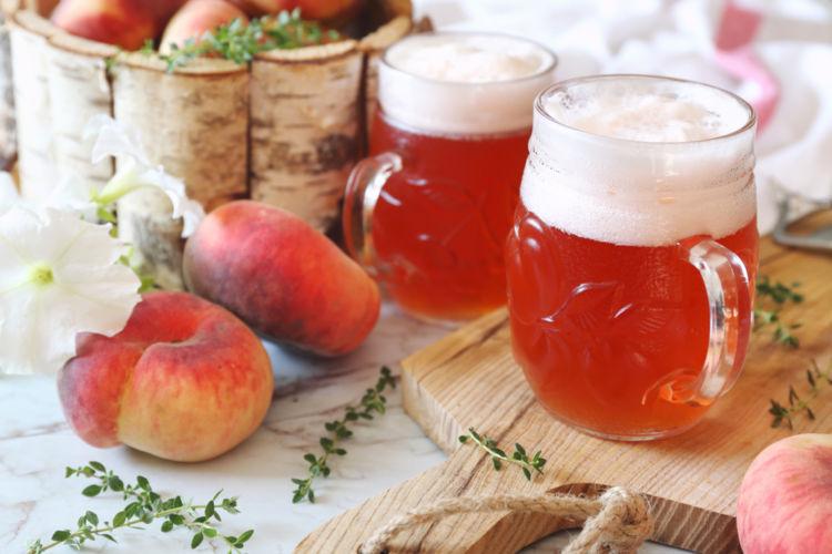 ピーチ風味のビールが人気急上昇中!