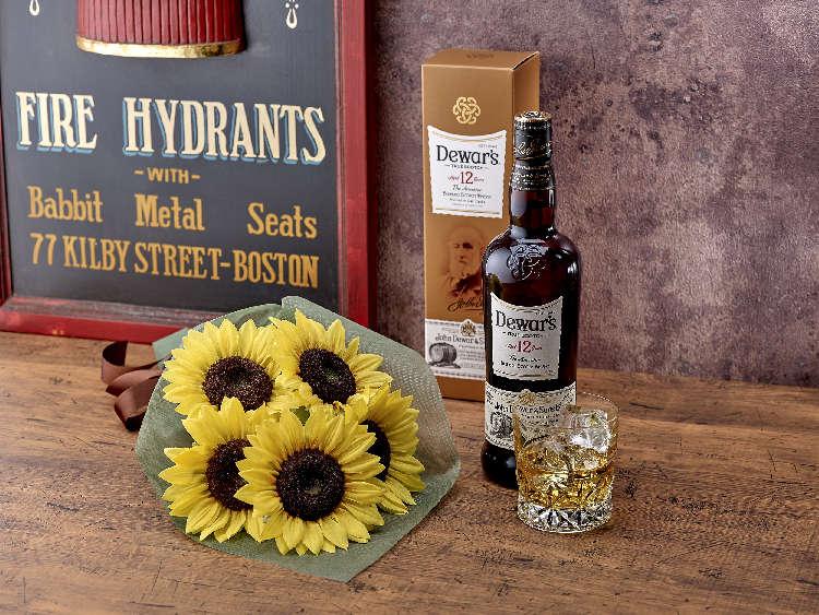 父の日には特別なスコッチ・ウイスキーと花束を