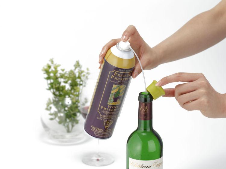 ワインの風味を手軽に守る保存用ガス「プライベートプリザーブ」が、新成分を配合しリニューアル
