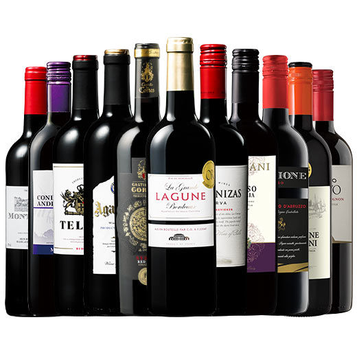 日本No.1ワイン通販より、特別セット「3大銘醸地入り!世界選りすぐり赤ワイン11本セット」が登場
