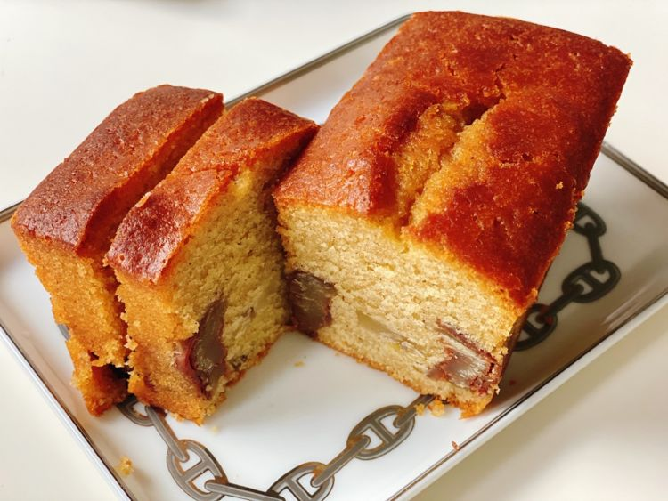 栗焼酎と笠間栗パウンドケーキをマリアージュ