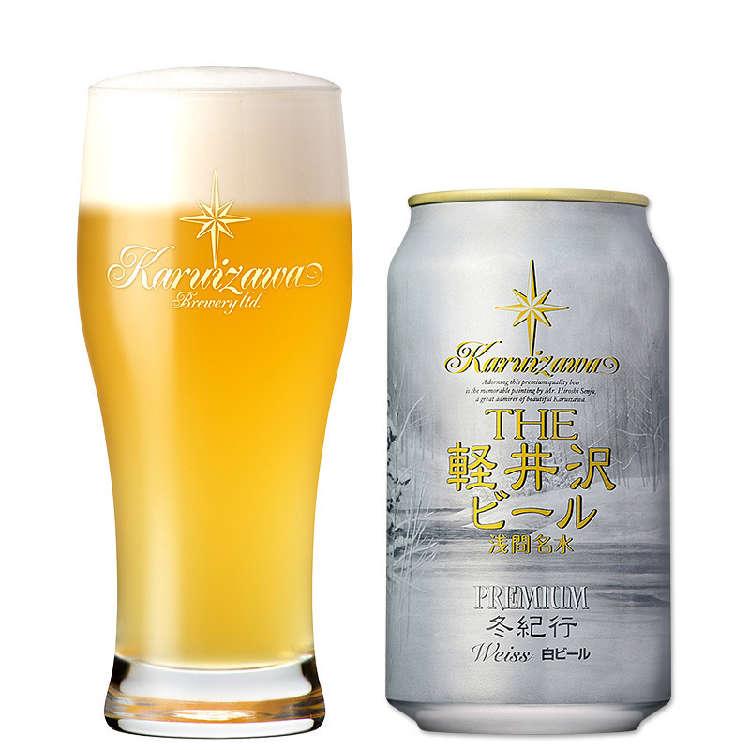 雪景色の名画が描かれた冬季限定ラベルのプレミアムビール