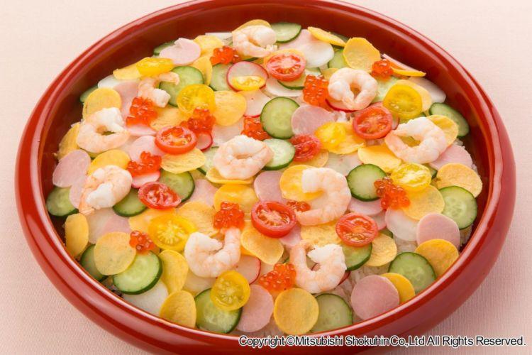 ひな祭りにもおすすめ! 彩り豊かな 「水玉ちらし寿司」