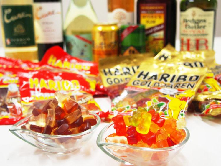 グミ好き、お酒好き集まれ! ハリボーをお酒に漬けてみた! 最後にお菓子ポーチも紹介します。